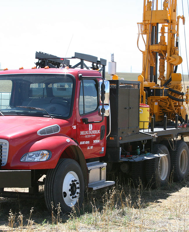 drilling engineers rig in field